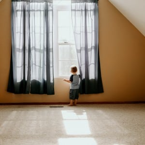 Boy on Clean Carpet