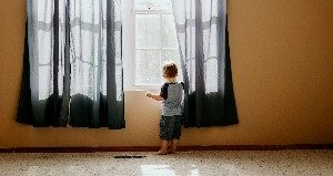 Small child at a window