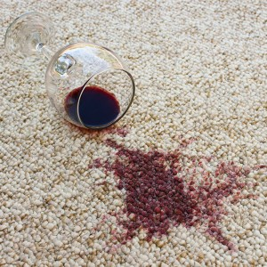 Wine spilled on berber carpet