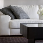 a clean white couch